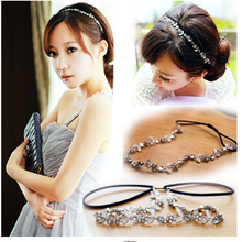 Crystal Stone Headbands, Crystal Bridal Headbands, Metal Crystal Rhinestone Flowers Headband