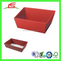 Q1161China Manufacture Gift Packaging Paper Foldable Fancy Hamper Trays
