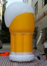 HOT 5m promotional event inflatable cup decoration/beer cup/model/replica/custom/character/figure/yellow/ for advertising W890