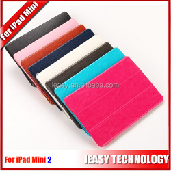 New Luxury smart leather cover case for ipad mini 2 flip smart bling bling diamond cover