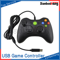 Wired USB Game Controller for Laptop PC360 Gamepad Joystick for PC Black