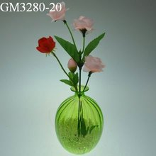 Wholesale glass vase for office table decoration