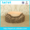 Christmas sales Leopard print warm cozy luxury pet dog bed wholesale pet nest bed