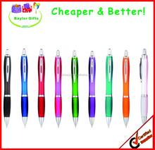 Cheap logo printed promotional gel ink pen