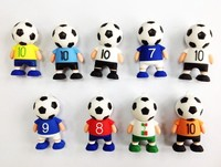Free shipping 4GB 8GB 16GB 32GB World Cup football man red green white blue yellow black USB flash drive 2.0 Pen memory U disk