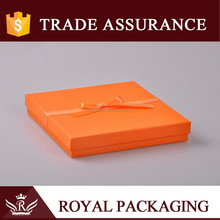 2015 New trend lovely Orange Jewelry box for necklace and gift packaging