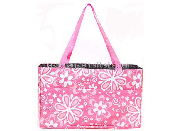 2014 Wholesale Fashion New style Pink Flower baby mother bag, Audit Diaper bag