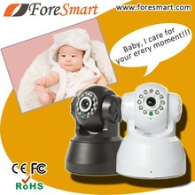 home use network 0.3 mp 3.6mm lens baby monitor two way audio robot wireless pan tilt ip camera