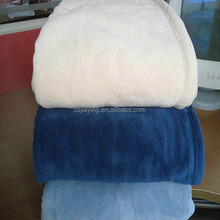 Plain dyed coral fleece blanket OEM brand/micro picnic blanket /adult aged blanket