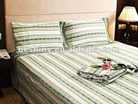 4pcs fabirc cotton material bed sheet set 77766-1