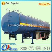 Tri-axles 45cbm 4 compartment fuel liquid tanker SemiTrailer (carbon steel)