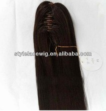 18inch Professional Peruvian human hair ponytail with various colors