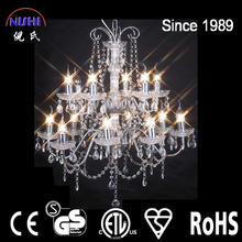 2016 clear crystal handmade chandelier lamp for hotel (120037C)