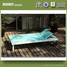 KD sling folding beach bed with wheels outdoor beach bed
