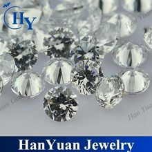 Hot selling 1mm 2mm 3mm round white gemstone loose cz