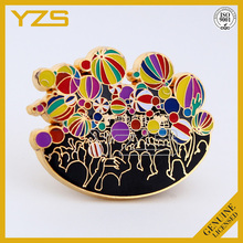 custom balloon design lapel pins for Christmas celebration ,gold plating pin badge arts and crafts