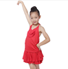New Fashion Girls Latin Costumes Kids Plus size Uniforms Ballroom Dancing Dresses Children Stage Dancewear Red Dance Dress