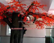 ร้อนขนาดใหญ่สีแดงเทียมเทียมในร่มเมartifcialเมเปิ้ลต้นไม้แสงสีแดง, เมเปิ้ลต้นไม้ปลอมในร่ม