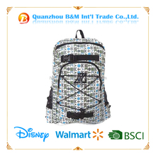 Good quality 600D white sport day backpack bag