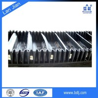 Hebei Lanjian mining pvc cleats corrugated box conveyor belt for sale