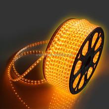 Flexible 220v/ 110v SMD 12mm width 50 m yellow led strip 5050 waterproof
