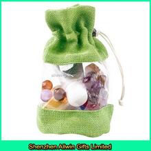 Jute PVC gift bag/Jute package bag wholesale