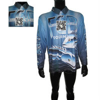 Custom Made Dry Fit Long Sleeve Dye Sublimation Polyester Fishing Jerseys Shirt