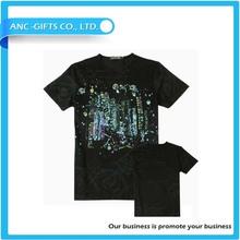 low price color changing t-shirt 100% cotton t shirt 3d