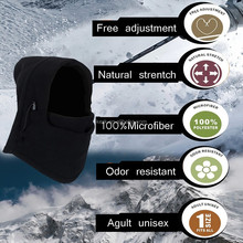 Full face and neck cover design 6in1 Fleece winter caps and hats,full face winter protect,ski face mask balaclava