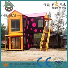 ready made flat pack prefabricated two-storey luxury living container house for sale