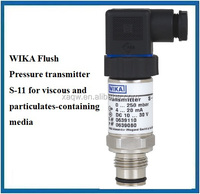 WIKA Flush Pressure transmitter S-11 for viscous and particulates-containing media