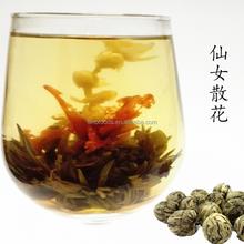 high quality flower tea xian nu san hua jasmine fairy blooming tea