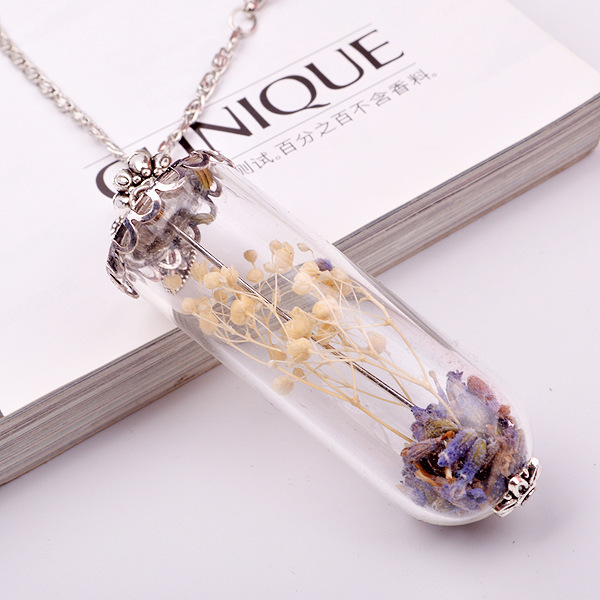 Make glass pendant necklace images make glass pendant necklace images small dry dried flower and lavender diy global glass bubble glass mozeypictures Images