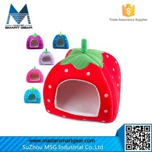 Soft Sponge Strawberry Small Cotton Soft Dog Cat Pet Bed House S/M/L/XL PT76