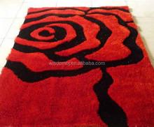 2015 Popular Modern machine washable shaggy carpet bath floor area rug