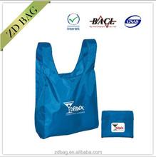 190T reusable polyester folding shopping bag
