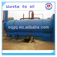 automatic continuous waste tyre plastic pyrolysis plant for fuel oil