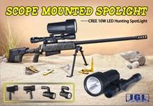 Most hot sale CREE 10W LED gun flashlight JG-9910 best scope mounted spotlight for hunting