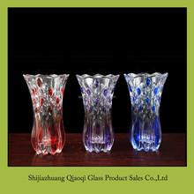 24cm glass vase with round bottom