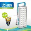 LONEN 27 SMD bright light portable battery backup rechargeable emergency light led