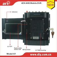 DTY X7G 2.5'' hard drive and one SD card security management fleet DVR 4-channel car vehicle dvr