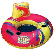 PVC durable inflatable water snow tube with backboard