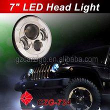 "USA SAMA show new/hot product Promotional pricing lamp automotive 7"" LED with angel eye"