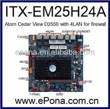 Intel Atom Cedar View D2550 based Mini ITX motherboard for firewall ITX-EM25H24A