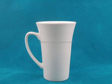 plain white high quality custom logo decal designed white porcelain mugs and cups with handle