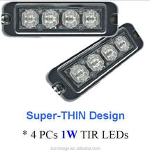 ECE R65, E9 MARK LED Strobe Lightheads/LED Security Flash Strobe light /Dash light /Grille light (SR-LS-LD-4T),1W LED,Super-Thin