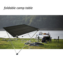 (3162) Portable Aluminum Base Outdoor Light Weight Foldable Picnic Table