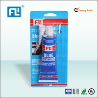 Top grade High temperature RTV silicone gasket maker blue color 85g GP silicone sealant