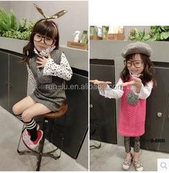 Wholesale manufacturers Autumn and winter children's clothing girls dress new embossed Skirt Dress children dress sweet Lolita C