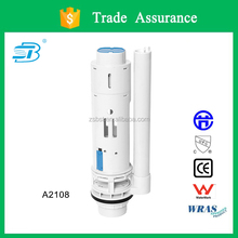 Two piece toilet flush valve with adjustable flush volume (A2108)